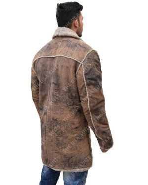 Mens Fur Collar Coat