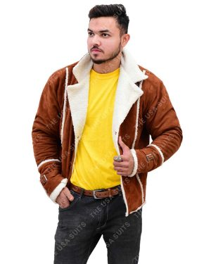 Mens Fur Collar Leather Jacket