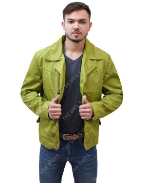 Mens Green Cotton Jackets
