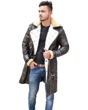 Mens Mid-Length Leather Coats