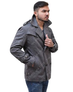 Mens Mid-Lenth Wool Coat