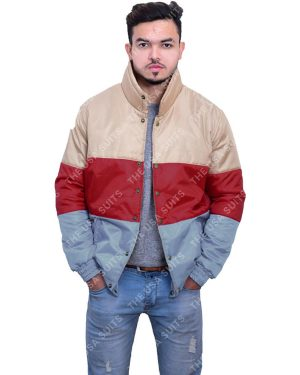 Mens Multi-Colour Satin Jacket